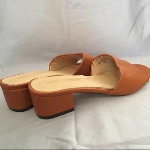 Tan soft slide sandals